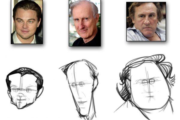 Karikatur zeichnen lernen - Anleitung - Demo 1 - Bild 2