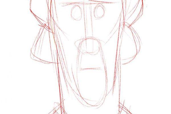 Karikatur Zeichnen Demo Nicolas Cage 02