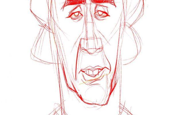 Karikatur Zeichnen Demo Nicolas Cage 05