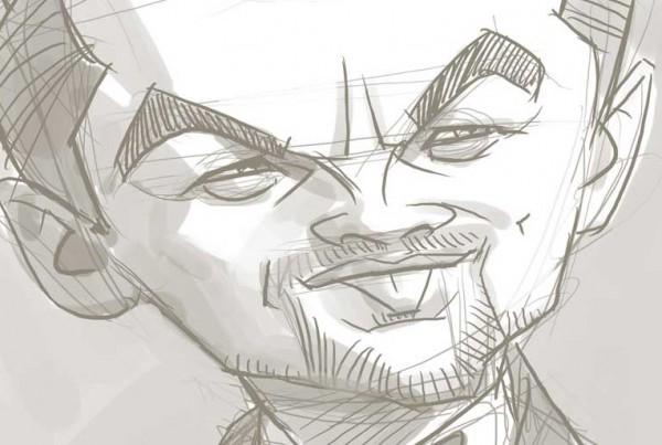Karikatur Zeichnen Demonstration von Leonardo Dicaprio