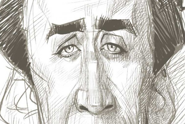 Karikatur Zeichnen Demo Nicolas Cage