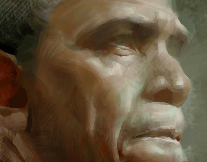 Ein Portrait von Barack Obama