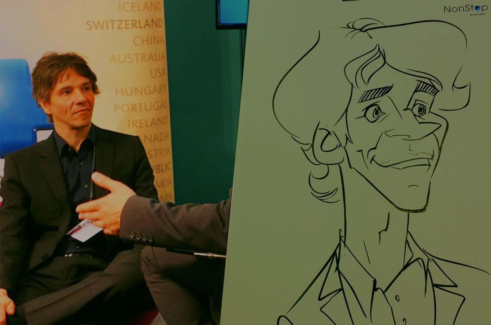 Karikaturist / Schnellzeichner für Messe