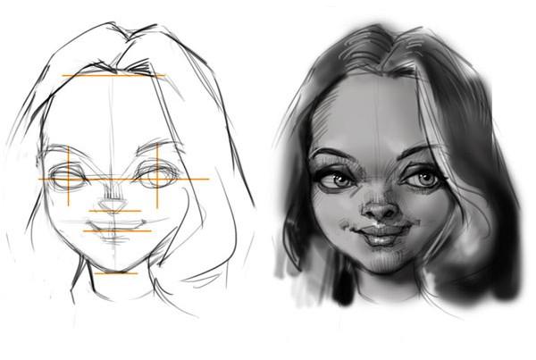 Karikatur Zeichnen Lernen - Exaggeration Demo - Bild 4