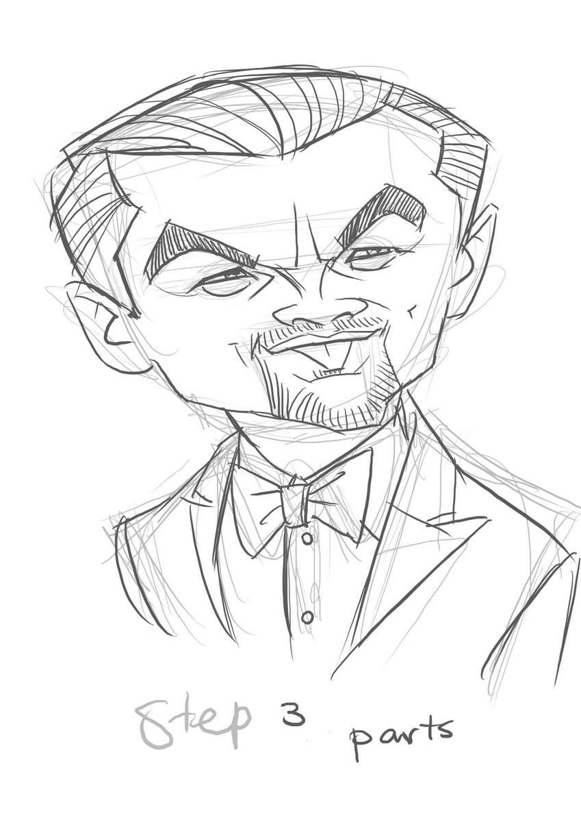 Schritt 3 - Karikatur von Leonard Dicaprio