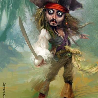 Karikatur_Johnny_Depp_1100