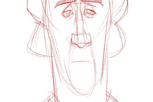 Karikatur Zeichnen Demo Nicolas Cage 03