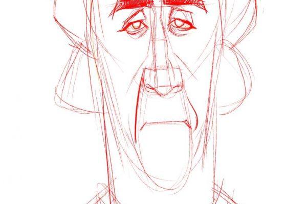 Karikatur Zeichnen Demo Nicolas Cage 04