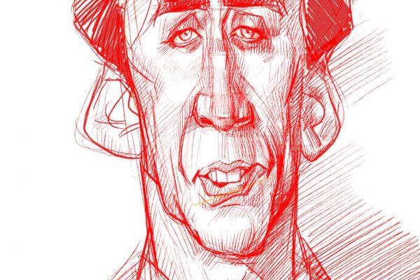 Karikatur Zeichnen Demo Nicolas Cage 07