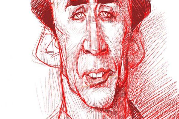 Karikatur Zeichnen Demo Nicolas Cage 08