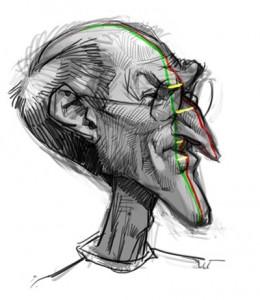 Steve Jobs Karikatur