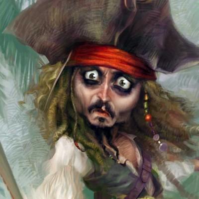 Karikatur_Johnny_Depp_Ausschnitt