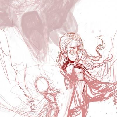 Karikatur Daenerys (Khaleesi) und Elsa (Eiskönigin) - Schritt 03