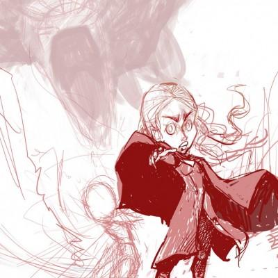 Karikatur Daenerys (Khaleesi) und Elsa (Eiskönigin) - Schritt 04